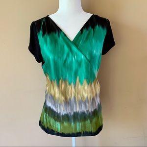 The Limited medium green black womens shirt